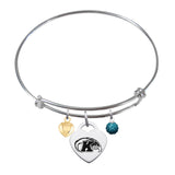 Kent State Golden Flashes Sterling Silver Bangle Bracelet