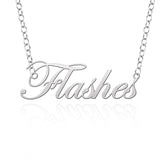 Kent State Golden Flashes Sterling Silver Cutout Script Necklace