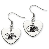 Kent State Golden Flashes Heart Drop Earrings