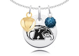 Kent State Golden Flashes Necklace with Charm Accents