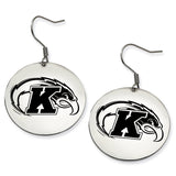 Kent State Golden Flashes Stainless Steel Disc Earrings
