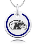 Kent State Golden Flashes Round Enamel Charm