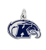 Kent State Golden Flashes Sterling Silver Logo Charm