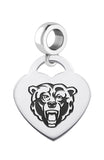 Kutztown Golden Bears Heart Drop Charm