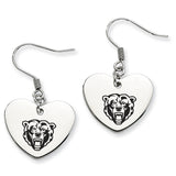 Kutztown Golden Bears Heart Drop Earrings