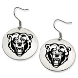 Kutztown Golden Bears Stainless Steel Disc Earrings