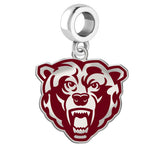 Kutztown Golden Bears Silver Logo and School Color Drop Charm