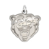 Kutztown Golden Bears Sterling Silver Natural Finish Charm