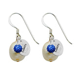 Lake Superior State Lakers Color and Freshwater Pearl Earrings