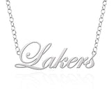 Lake Superior State Lakers Sterling Silver Cutout Script Necklace