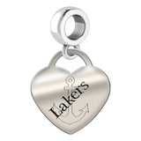 Lake Superior State Lakers Heart Drop Charm