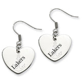 Lake Superior State Lakers Heart Drop Earrings