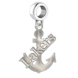 Lake Superior State Lakers Natural Finish Logo Dangle Charm