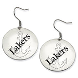 Lake Superior State Lakers Stainless Steel Disc Earrings