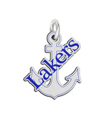 Lake Superior State Lakers Sterling Silver Logo Charm