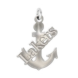 Lake Superior State Lakers Sterling Silver Natural Finish Charm