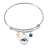 Longwood Lancers Sterling Silver Bangle Bracelet