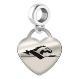 Longwood Lancers Heart Drop Charm