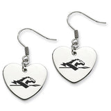Longwood Lancers Heart Drop Earrings