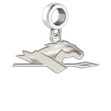 Longwood Lancers Natural Finish Logo Dangle Charm