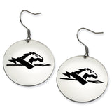 Longwood Lancers Stainless Steel Disc Earrings