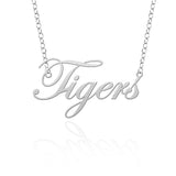 LSU Tiger Sterling Silver Cutout Script Necklace