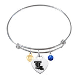 Louisiana Tech Bulldogs Sterling Silver Bangle Bracelet