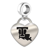 Louisiana Tech Bulldogs Heart Drop Charm