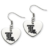 Louisiana Tech Bulldogs Heart Drop Earrings