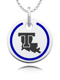 Louisiana Tech Bulldogs Round Enamel Charm