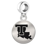 Louisiana Tech Bulldogs Round Drop Charm