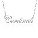 Louisville Cardinals Sterling Silver Cutout Script Necklace
