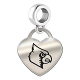 Louisville Cardinals Heart Drop Charm