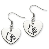 Louisville Cardinals Heart Drop Earrings