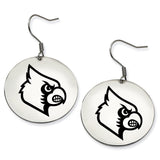 Louisville Cardinals Stainless Steel Disc Earrings