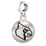 Louisville Cardinals Round Drop Charm