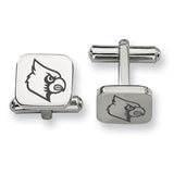 Louisville Cardinals Stainless Steel Cufflinks