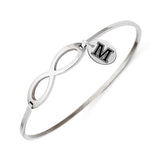 Maine Black Bears Infinity Bangle Bracelet with Free Shipping