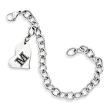 Maine Black Bears Stainless Heart Bracelet