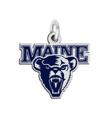 Maine Black Bears Sterling Silver Logo Charm