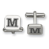 Maine Black Bears Stainless Steel Cufflinks
