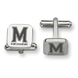 Maryland Terrapins Stainless Steel Cufflinks