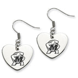 Maryland Terrapins Heart Drop Earrings