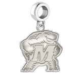 Maryland Terrapins Natural Finish Logo Dangle Charm