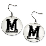 Maryland Terrapins Stainless Steel Disc Earrings