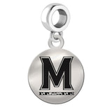 Maryland Terrapins Round Drop Charm