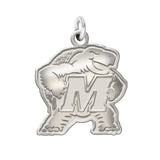Maryland Terrapins Sterling Silver Natural Finish Charm