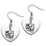 Memphis Tigers Heart Drop Earrings