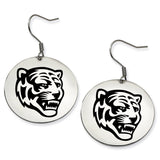 Memphis Tigers Stainless Steel Disc Earrings
