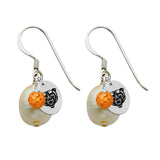 Mercer Bears Color and Freshwater Pearl Earrings